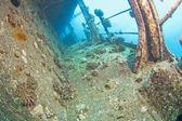 Shipwreck underwater — Foto Stock