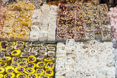 Confectionary at a market stall — Stock Photo