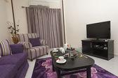 Sala de estar em um apartamento de luxo — Foto Stock