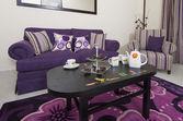 Salonek v luxusním bytě — Stock fotografie