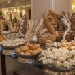 Bread display at hotel buffet — Stock Photo #13904194