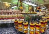 Buffet de sobremesas, em um hotel — Foto Stock