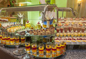 Dessert buffet in a hotel — Stock Photo