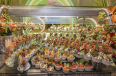 Seafood display at a hotel buffet — Stock Photo