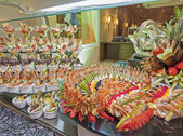 Seafood display at a hotel buffet — Photo