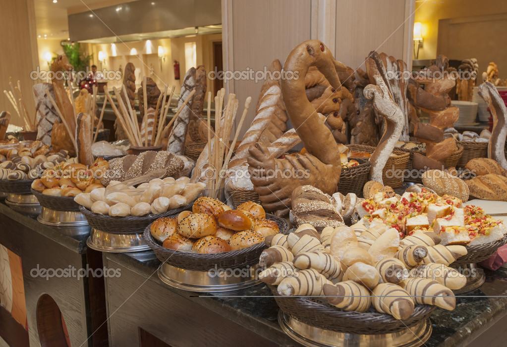 Bread Display At A Hotel Buffet Stock Photo Paulvinten