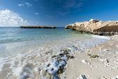 Tropical beach on a desert island — Stock Photo