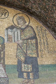 Mosaic artwork in Hagia Sophia Istanbul — Stock Photo