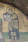 Mosaico de obras de arte en hagia sophia estambul — Foto de Stock
