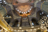 Interior of the New Mosque in Istanbul — 图库照片