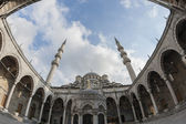 Courtyard of the New Mosque in Istanbul — Stok fotoğraf
