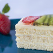Sponge cake with fruits — Stok fotoğraf