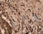 Closeup of chocolate flakes — Stock Photo