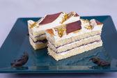 Sponge cake on a plate — Stock Photo