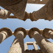 Columns at Karnak temple in Luxor — Stok fotoğraf