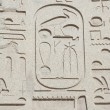 Stock Photo: Egyptian hieroglyphic carvings on wall