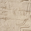 Egyptian hieroglyphic carvings on wall — Stock Photo #19287841