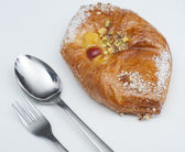 Danish pastry on a plate — Stock Photo