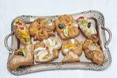 Selection of danish pastries — Stock Photo