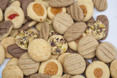 Selection of biscuits on a plate — Stock Photo