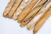 Selection of baguettes — Stock Photo