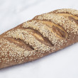 Loaf of bread on white background — 图库照片