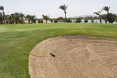 Bunker on a golf course — Stock Photo