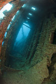 Interior of an underwater shipwreck — Stock Photo