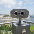 Binoculars on an aerial viewing platform over city — Stock Photo #31322853