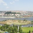 Aerial view over Istanbul Turkey — Stock Photo