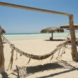 Hammock on a desert island beach — Foto Stock