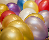 Party balloons on the floor — Stock Photo