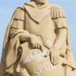Stock Photo: Sand sculpture of Julius Caesar against blue sky