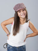 Young latino girl posing in studio — Stock fotografie