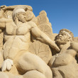 Large sand sculpture of Hercules the Greek — Stock Photo #39857639