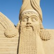 Stock Photo: Large sand sculpture of Lamassu deity