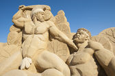Large sand sculpture of Hercules the Greek — Foto Stock