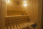 Private sauna in a health spa — Stock Photo