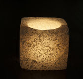 Ornate salt candle on black background — Stock Photo