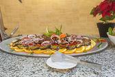 Aubergine salad at a restaurant buffet — Stock Photo