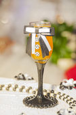 Ornately decorated glass wedding theme — Stock Photo