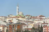 Cityscape over istanbul with mosque — Stock Photo
