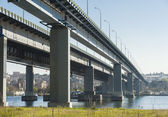 Large highway bridge over a river — Stock fotografie
