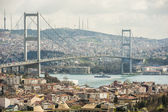 View of Bosphorus suspension bridge in Istanbul — Stock Photo