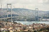 View of Bosphorus suspension bridge in Istanbul — Stock Photo