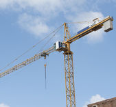 High crane on a building site — Stock Photo