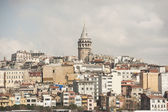 Cityscape over istanbul with galata tower — Stock Photo