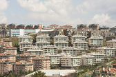 Urban view of housing development on hillside — Stock Photo