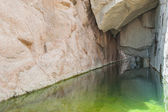 Freshwater pool in a mountain canyon — Stock Photo