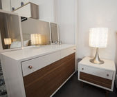 Dressing table and mirror in show room — Stock Photo